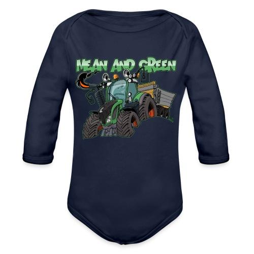 F 718Vario mean and green - Baby bio-rompertje met lange mouwen