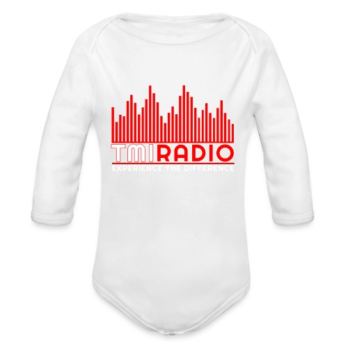 NEW TMI LOGO RED AND WHITE 2000 - Organic Longsleeve Baby Bodysuit