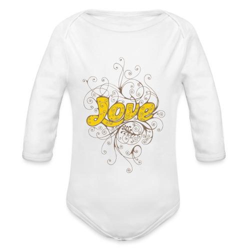 Scritta Love con decorazione - Body ecologico per neonato a manica lunga