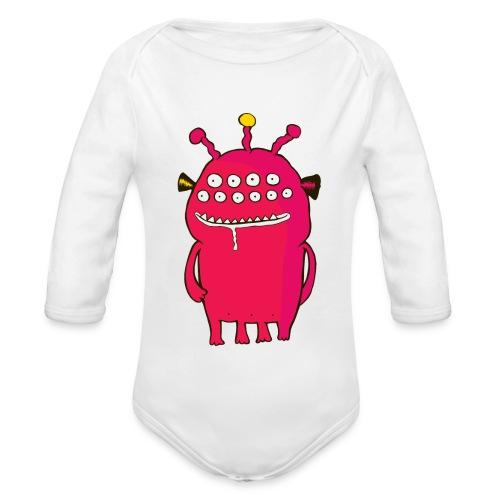 Alienating... (monster #1) - Organic Longsleeve Baby Bodysuit