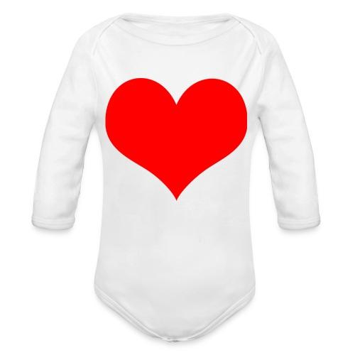 rotes Herz - Baby Bio-Langarm-Body