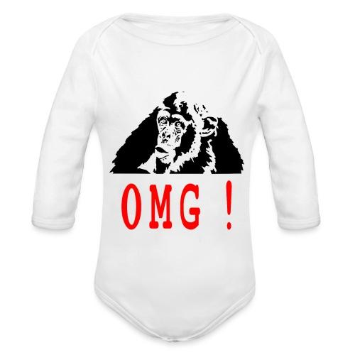OMG monkey - Body Bébé bio manches longues