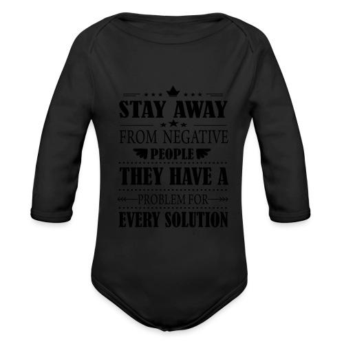 Stay away - Vauvan pitkähihainen luomu-body