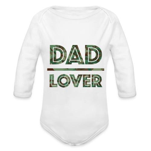 DAD LOVER - Ekologisk långärmad babybody