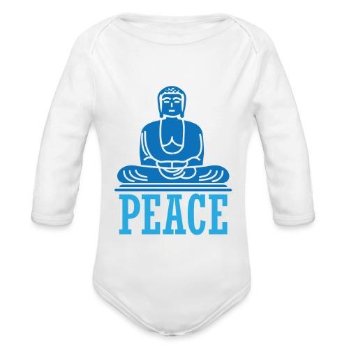 Buddha Meditating. - Organic Longsleeve Baby Bodysuit