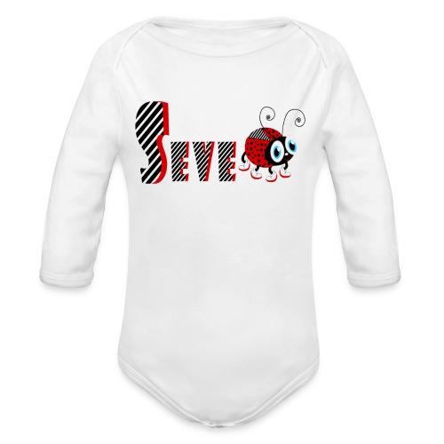 7. Jahr-Familien-Marienkäfer-T-Shirts Geschenk-Tochter - Baby Bio-Langarm-Body