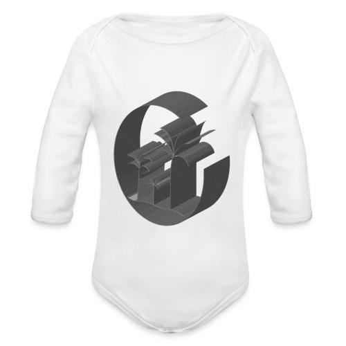 3D Miami Palm Trees Badge - Organic Longsleeve Baby Bodysuit