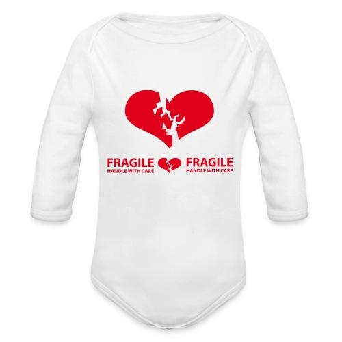 I am FRAGILE - Handle with care! - Ekologisk långärmad babybody