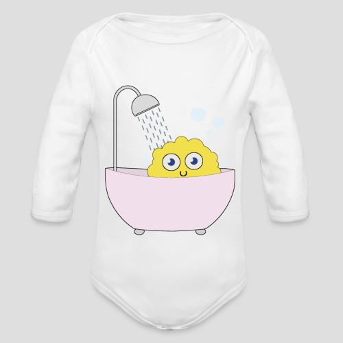 Knuffel in der Badewanne - Baby Bio-Langarm-Body
