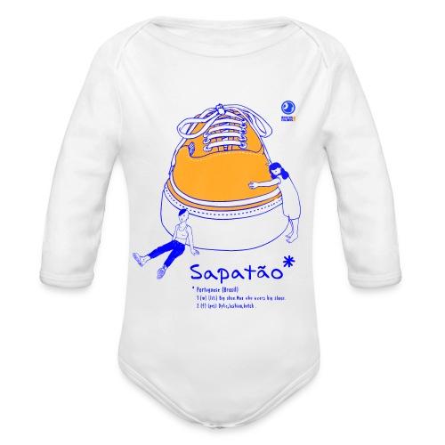 Sapatão - Body orgánico de manga larga para bebé
