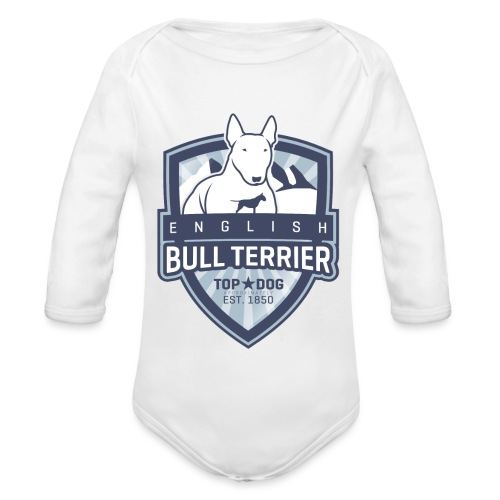 English Bull Terrier Mountains - Baby Bio-Langarm-Body