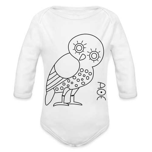 Owl of Athena - Organic Longsleeve Baby Bodysuit