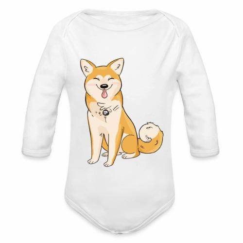 Akita Yuki Logo - Organic Longsleeve Baby Bodysuit