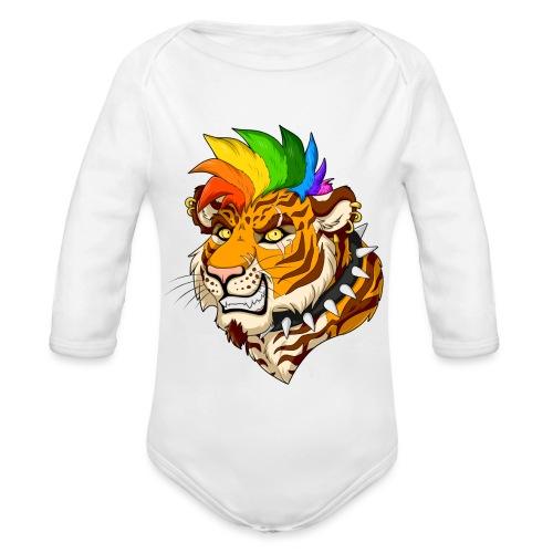 Punk Tiger - Ekologiczne body niemowlęce z długim rękawem