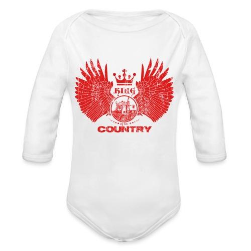 IH KING of the COUNTRY (Red design) - Baby bio-rompertje met lange mouwen