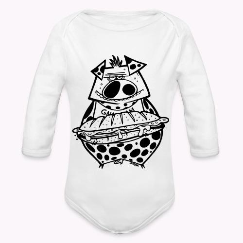 pig vs pig - Body ecologico per neonato a manica lunga