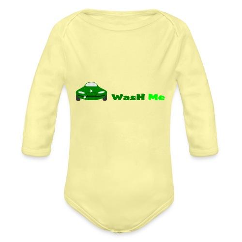 wash me - Organic Longsleeve Baby Bodysuit