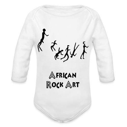 African Rock Art - Vauvan pitkähihainen luomu-body
