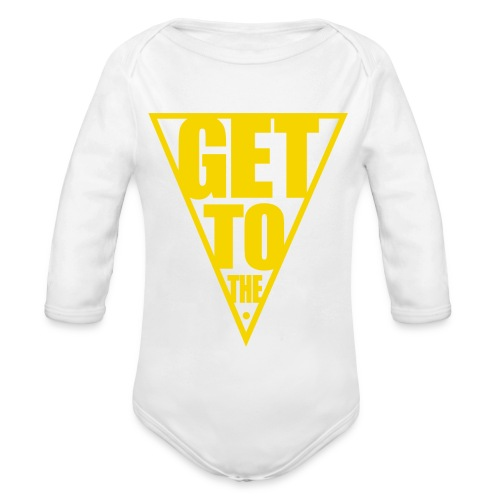 GET TO THE POINT - Organic Longsleeve Baby Bodysuit