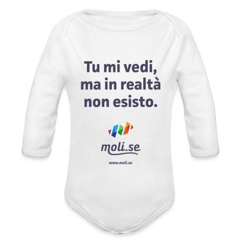 Non esisto - Body ecologico per neonato a manica lunga
