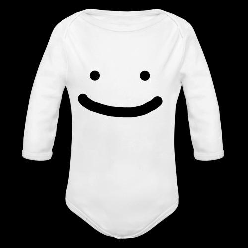 Smile - Ekologiczne body niemowlęce z długim rękawem