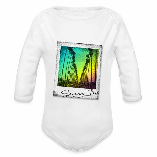 Summer Time - Organic Longsleeve Baby Bodysuit