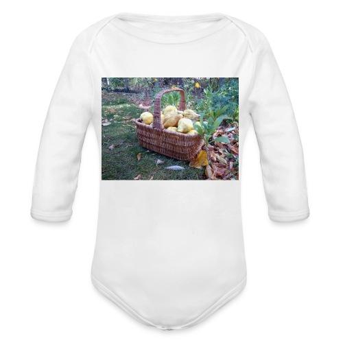 Quitten-Korb - Baby Bio-Langarm-Body