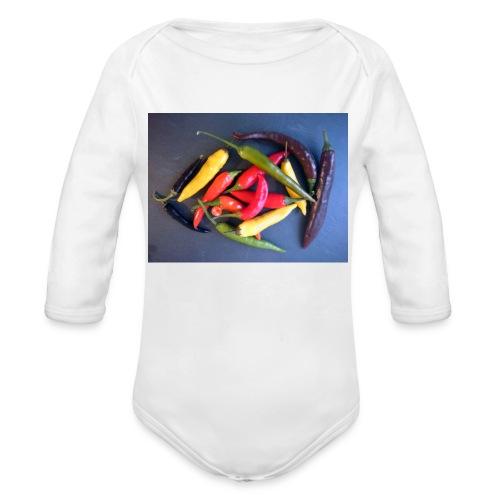 Chili bunt - Baby Bio-Langarm-Body