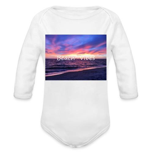 Beach Vibes - Ekologisk långärmad babybody