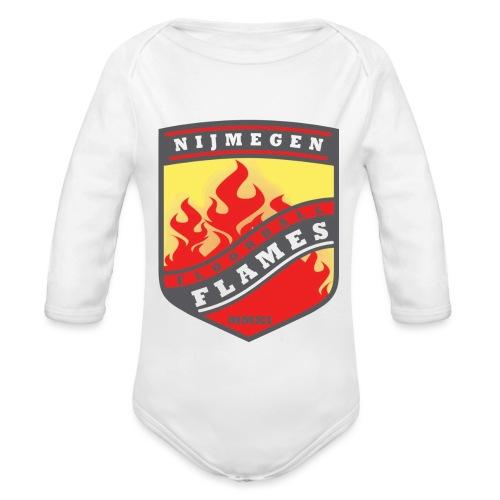 t-shirt kid-size zwart - Baby bio-rompertje met lange mouwen