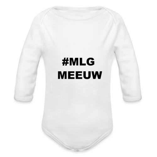 MLG MEEUW - Baby bio-rompertje met lange mouwen