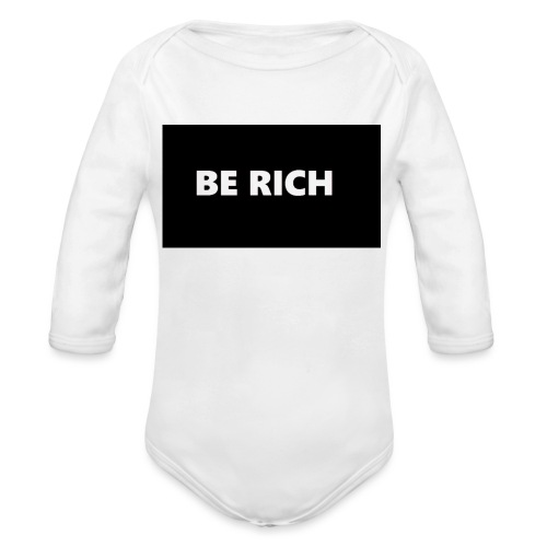 BE RICH REFLEX - Baby bio-rompertje met lange mouwen
