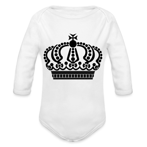 kroon keep calm - Baby bio-rompertje met lange mouwen
