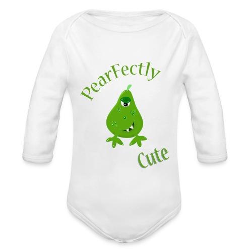 pearfectly cute peer - Baby bio-rompertje met lange mouwen