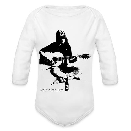 Cynthia Janes guitar BLACK - Organic Longsleeve Baby Bodysuit