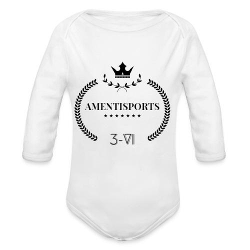 AmentiSports - Baby Bio-Langarm-Body