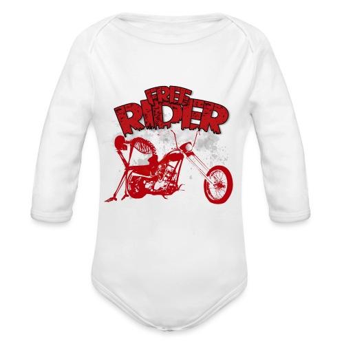FREE RIDER - Body orgánico de manga larga para bebé