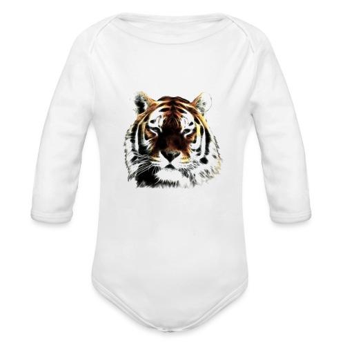El poderoso tigre. - Body orgánico de manga larga para bebé