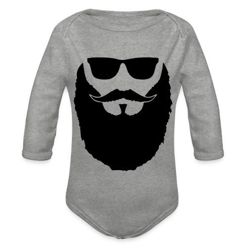 Hipster beard glasses - Body Bébé bio manches longues