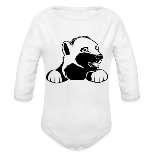 ijsbeer shirt - Baby bio-rompertje met lange mouwen