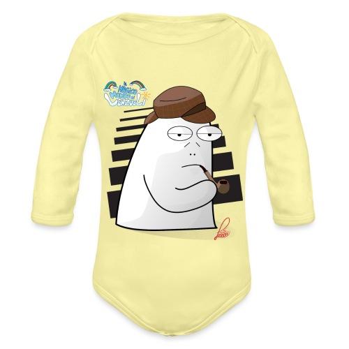 Commissario Color - Body ecologico per neonato a manica lunga