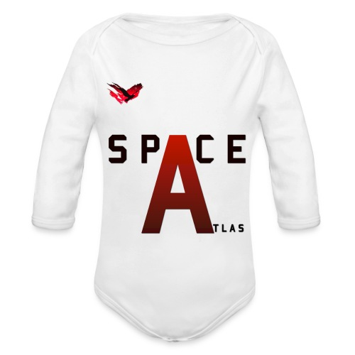 Space Atlas Baseball Long Sleeve Capital A - Langærmet babybody, økologisk bomuld