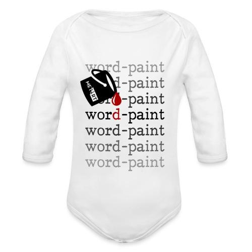Word - paint - Body ecologico per neonato a manica lunga