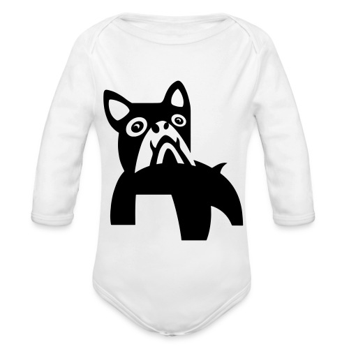 MadDog_kunst mit hund.eps - Baby Bio-Langarm-Body