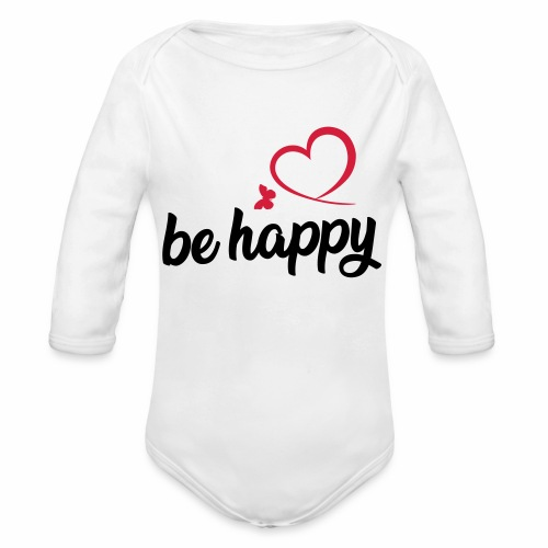 be happy - Baby Bio-Langarm-Body