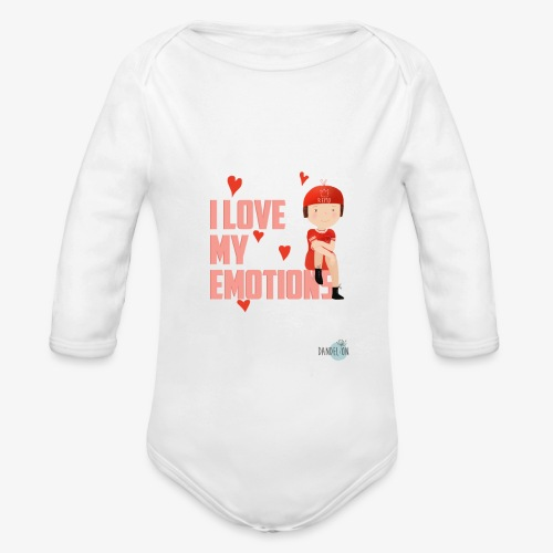 i love my emotions girl - Body ecologico per neonato a manica lunga