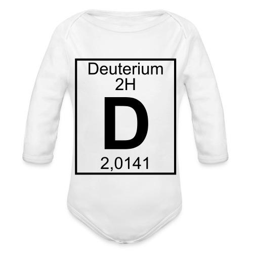 D (Deuterium) - Element 2H - pfll - Organic Longsleeve Baby Bodysuit