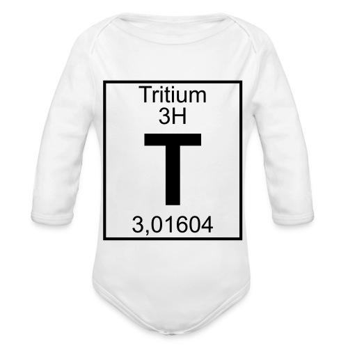 T (tritium) - Element 3H - pfll - Organic Longsleeve Baby Bodysuit