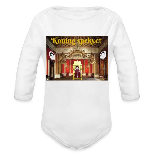 Koning Spekvet - Baby bio-rompertje met lange mouwen
