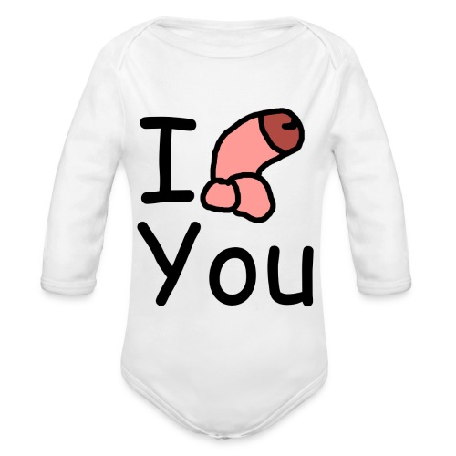 I dong you cup - Organic Longsleeve Baby Bodysuit
